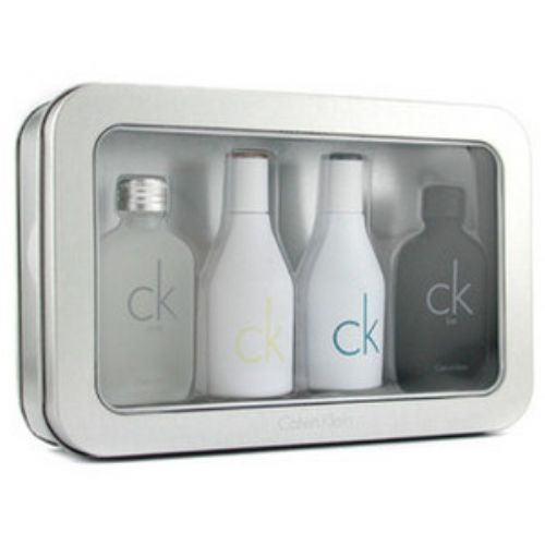 Calvin Klein CK 4 Piece Miniature Perfume Collection Set for Men & Women