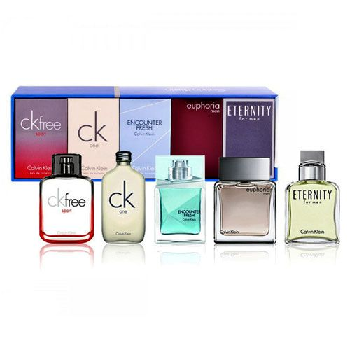 Calvin Klein CK 5 piece miniature perfume Gift set for Men