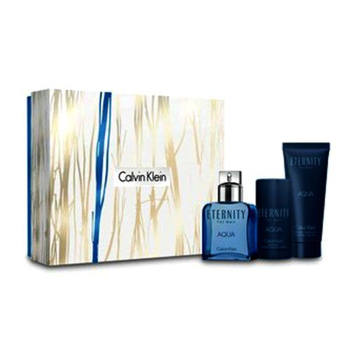 Calvin Klein CK Eternity Aqua 3 piece perfume set For Men