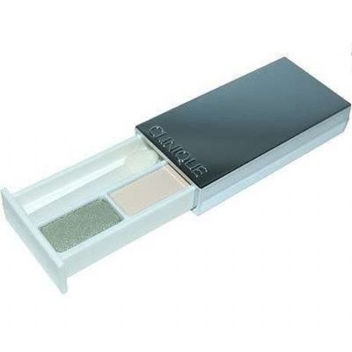 Clinique Eyeshadow in Two shades of the Sparkling sage and French vanilla