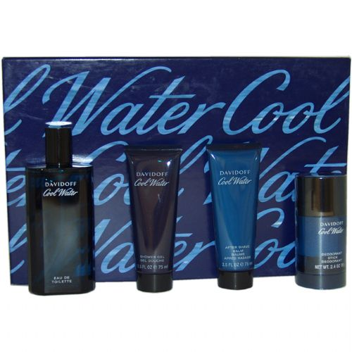 Davidoff Cool Water 4 Piece Perfume Gift Set for Men