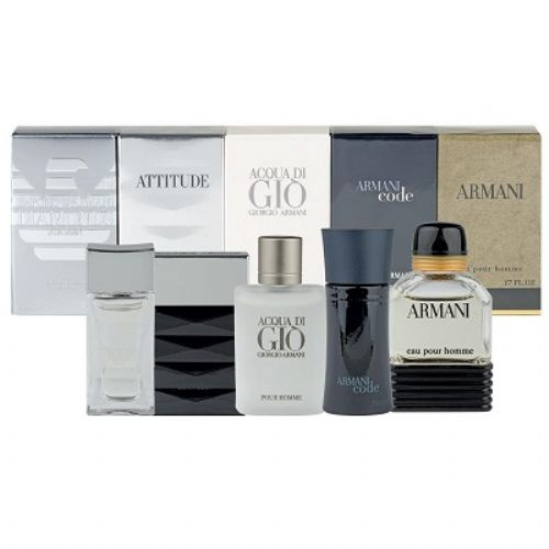 Giorgio Armani 5 Piece Miniature Perfume Gift Set For Men 25ml