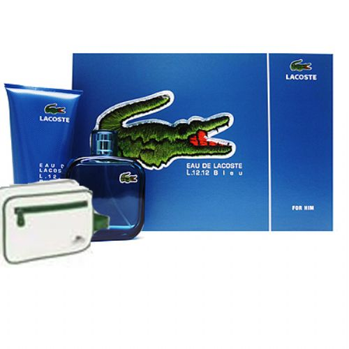 Lacoste Eau De Lacoste L 12.12 Bleu Gift Set for Men
