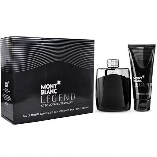Mont Blanc Legened 2 Piece Travel Gift Set 100ml