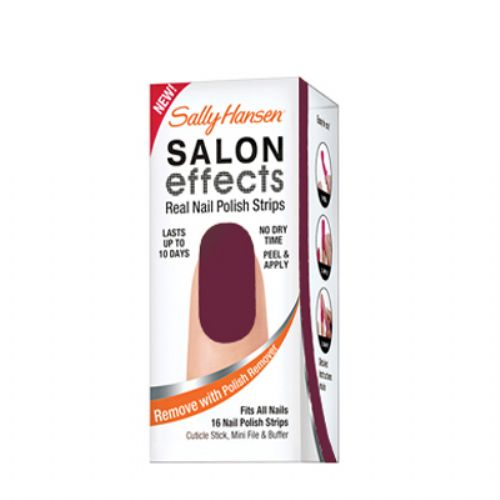 Sally Hansen Salon Effects Real Nail Polish Strips - PLUM-MET