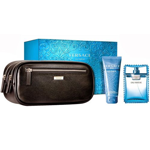 Versace Eau Fraiche 3 Piece Perfume Gift Set For Men