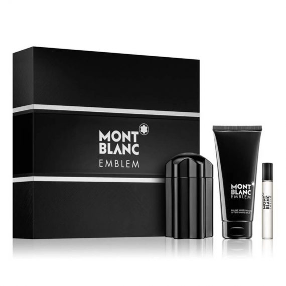mont blanc emblem eau de toilette 100 ml miniature 75 ml after shave balm 100 ml gift set